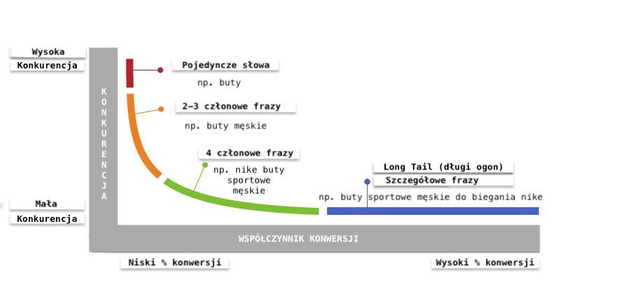 pozycjonowanie long tail wykres